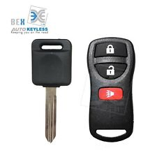 Keyless Entry Remote Fob & Uncut Key Chip Ignition For Nissan 2005-2016 Frontier