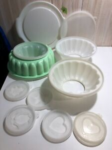 Tupperware jello molds lot 3