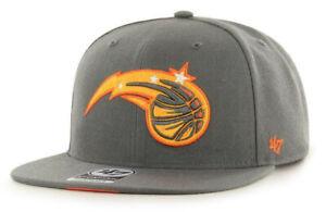 ORLANDO MAGIC GRAY NBA FLAT BILL SNAPBACK CITY EDITION CAP HAT NEW! '47 BRAND