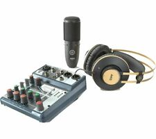 More details for akg & soundcraft pro audio home studio kit with microphone, mixer & headphones