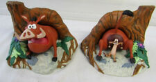 RARE Disney The Lion King Timon & Pumbaa Bookends FIGURAL Statue Set NEW IN BOX