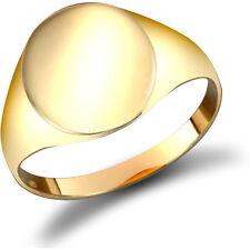 Herren-Ringe im Siegelring-Stil aus echtem Edelmetall ohne Steine