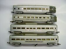Lot of 4 American Flyer Aluminum Passenger Cars [Lot II8-P11]