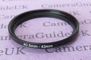 40.5mm to 43mm Male-Female Stepping Step Up Filter Ring Adapter 40.5mm-43mm
