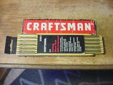 "Vintage Nos Craftsman 72"" Folding Extension Rule w/ 6"" Brass Extender # 3931 Usa"