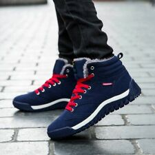 Men's Shoes Plush Ankle Outdoor Sport Sneakers Leather Light Running Warm Winter