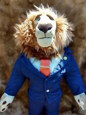 "Disney Store AUTHENTIC Zootopia Mayor Leodore Lionheart Lion 16"" Plush  RARE"