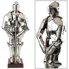 Knight in Shining Armor Medieval European 15th Century Home Decor Statue