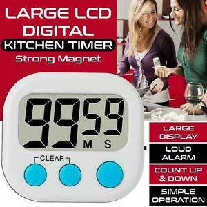 Digital Large Clock  Kitchen Cooking Timer Count-Down Up Loud LCD Alarm Magnetic