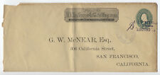 1890s Wells Fargo Frank San Francisco with messenger cancel [4421.6]