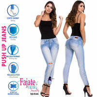 Colombian Push Up Jeans Wide Waist Jeans Levanta Cola Sexy Butt Lifter Sculpting