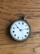 Pocket Watch With Fancy Dial 31Mm Antique Gun Metal Keyless Wind Open Face
