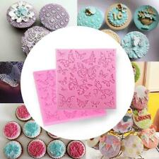 Butterfly Lace Fondant Mould Silicone Cake Decorating Baking Sugarcraft Mat W5T7