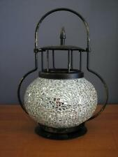 Mosaic Hanging Tea Light Lantern - Includes 6 Scented Soy Wax Tea Lights FREE