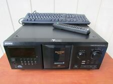 Sony CDP-CX355 300 Disc CD Changer Player With Remote, Keyboard, And RCA Cables