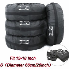 "4Pcs 13""-18"" Car Spare Tyre Tire Protection Cover Carry Tote Handle Storage Bags"