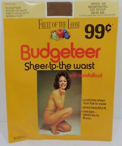 Fruit Of The Loom Budgeteer Sheer Pantyhose Style 1301 TROPICAL TAN Tall Model