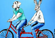 GILLIE AND MARC. Direct from artists. Authentic Art Print 'Love' 'Bicycle'