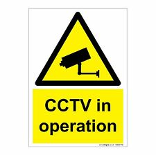 CCTV in operation A6 105x148mm 1mm Rigid PVC Plastic Safety Sign