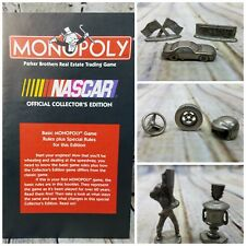 MONOPOLY ~ NASCAR ~ REPLACEMENT Game Pieces Tokens ~ 8 pcs.& Instruction Manual
