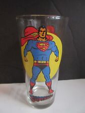 SUPERMAN Moon Glass Pepsi DC Comics Super Series Vintage 1976 Clean & Bright