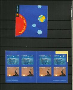 Norway, 2 MNH stamp booklets (self-adhesive) New Year's Eve 1999