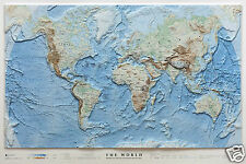 The World/Mondo [97x65 cm] Carta in Rilievo [Plastico Senza Cornice] Global Map