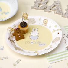 BABY MIFFY PAPER PLATES Pk 8 Baby Shower Christening Babies 1st Birthday Party