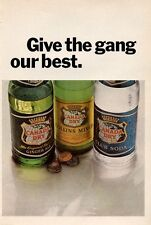 1965 Canada Dry Club Soda-Collins Mix-Ginger Ale Vintage Bottle PRINT AD