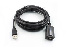 CAVO DATI PROLUNGA USB 2.0 5 MT METRI AMPLIFICATA ATTIVA PC MAC  UFFICIO CASA