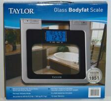 Taylor Glass Digital Scale Measures Body Fat Body Water & Muscle Mass 400 lb