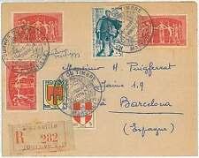 UPU - FRANCE - LETTRE - JOURNEE DU TIMBRE : MARSEILLE 1950