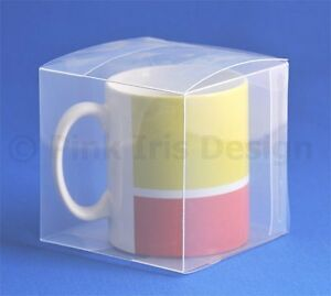 Clear Plastic Mug Present Presentation Gift Box - Great For Wrapping