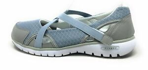 Propet Womens Travellite Mary Jane Walking Shoes Silver Size 6 4E(XX)