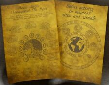 Set of 2 Scrolls - The Effect of the Sun and the Effect of the Moon
