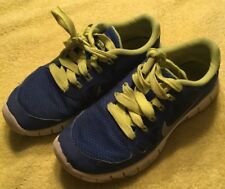 4ca166057a46 Nike Free 5.0 Youth Blue   Green Athletic Shoe 580558-400 Size 4Y