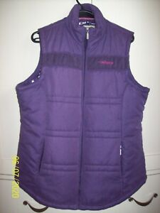 A woman's padded gilet, size L, Tayberry brand, Heather colour, zipped, pockets