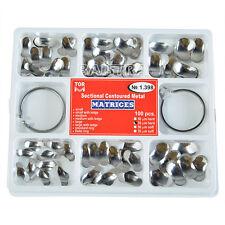 TORVM 100pcs Dental Sectional Contoured Metal Matrices 35μm & 2 Rings Kit №1.398