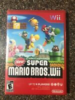 New Super Mario Bros. Wii (Nintendo Wii) New Factory Sealed - Free Ship