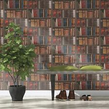 LIBRARY BOOKS WALLPAPER - RASCH 934809 - BOOKCASE NEW STUDY