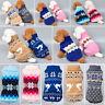 Pet Dog Winter Warm Jumper Pullover Sweater Small Medium Dog Clothes Set Outwear