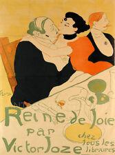 Reine de Joie, 1893 Vintage Art Nouveau Giclee Canvas Print 20x27