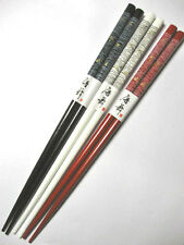 "3 Pair 9"" chopsticks HAIR STICKS Dragonflies RED BLACK WHITE"