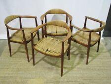 """Set of Four 1960's Hans Wegner """"The Chair"""" Johannes Hansen Denmark"""