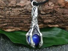 GRANDE drachenralle blu sfere ciondolo in argento 925 massiccio FANTASY DRAGO +