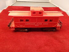 VERY NICE OLD VTG AMERICAN FLYER LINES MODEL RAILROAD RED CABOOSE, VG CONDITION
