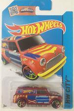 Hot Wheels # 2015 027/250 HW City '67 Austin Mini Van Red MOSC