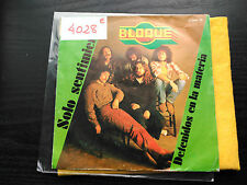 SINGLE BLOQUE - SOLO SENTIMIENTOS - CHAPA SPAIN 1981 VG/VG+