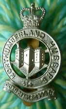 VINTAGE Northumberland Hussars Cap Badge QK WM Slider maker GAUNT