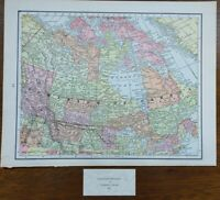 "Vintage 1900 CANADA Map 11""x14"" ~ Old Antique Original ALBERTA MANITOBA ONTARIO"